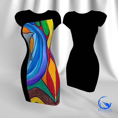 "Black Tubino with Rdress ""Visioni"" artwork"