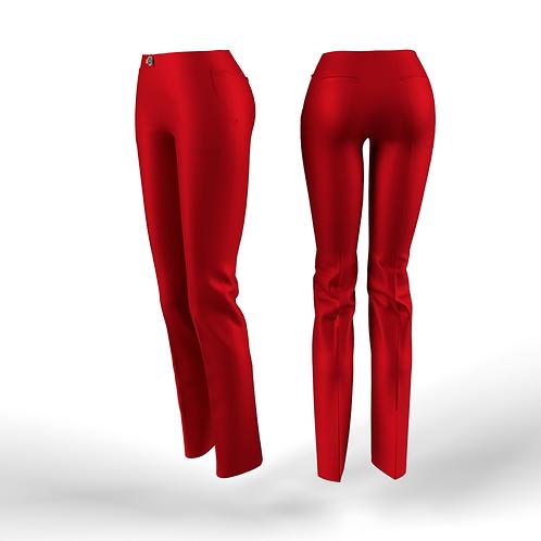 Red low waist women Pants