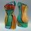 "Thumbnail: One-shoulder sheath Tubino ""Bottiglie Policrome"""