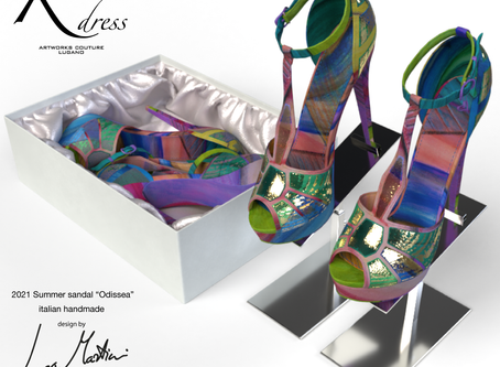 SS21 Switzerland. Silk shoes with original artworks