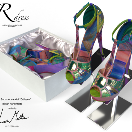 SS21 Switzerland. Silk shoes with original artworks