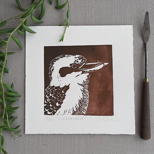 Kookaburra - original linocut