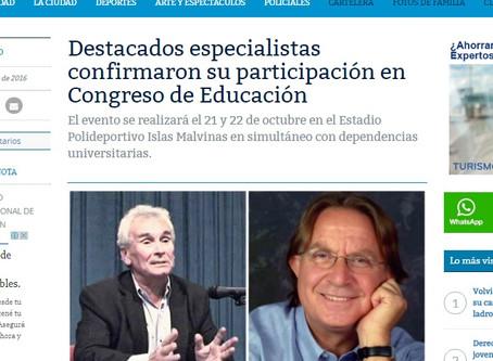 Los disertantes del Congreso Internacional de Educación de Mar del Plata son noticia en lo medios lo