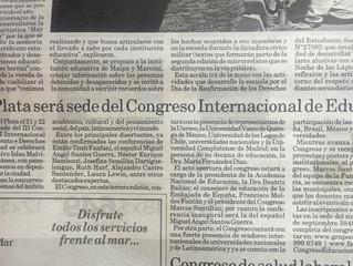 Diario La Capital: Congreso Internacional de Educación en Mar del Plata