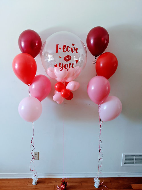 Valentine Day Personalise Balloon with Boquets