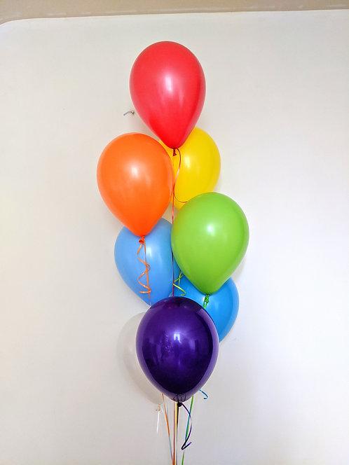 8  Latex Balloons - Rainbow