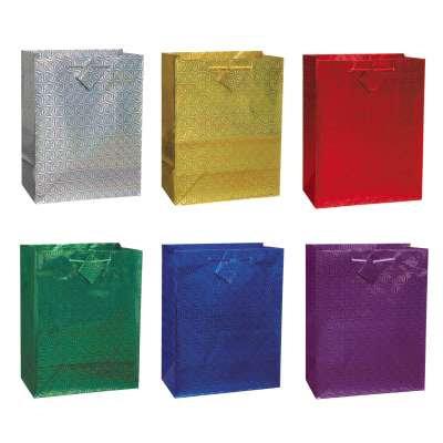 Solid Hologram Medium Gift Bag Assortment