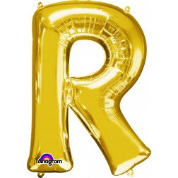 """Super Shape Letter- """" R """" Gold"""