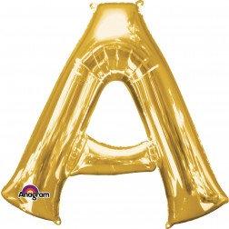 """Super Shape Letter- """" A """" Gold"""