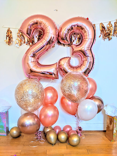 23rd Birthday Number Package - Rose Gold