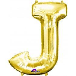 """Super Shape Letter- """" J """" Gold"""