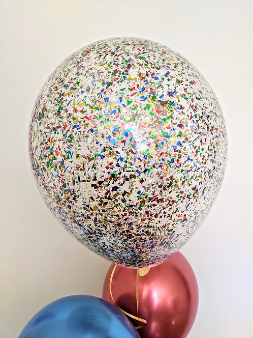 "16"" Multicolored Confetti Balloon"