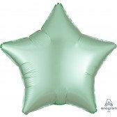 Star Mint Green Satin