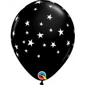 "11"" Latex Balloon -Black Star"