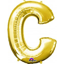 "Super Shape Letter- "" C "" Gold"