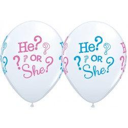 "11"" Latex Balloon- He Or She ?"