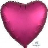 Heart Pomegranate Satin