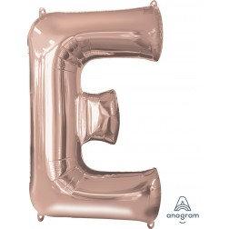"Super Shape Letter- "" E "" Rose Gold"