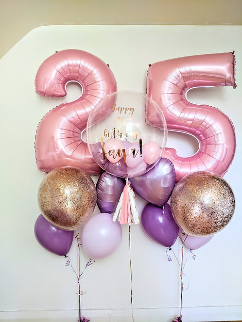 Pastel Numbers Personalise Party Package