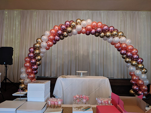 Balloon Arch Spiral Double Twisted