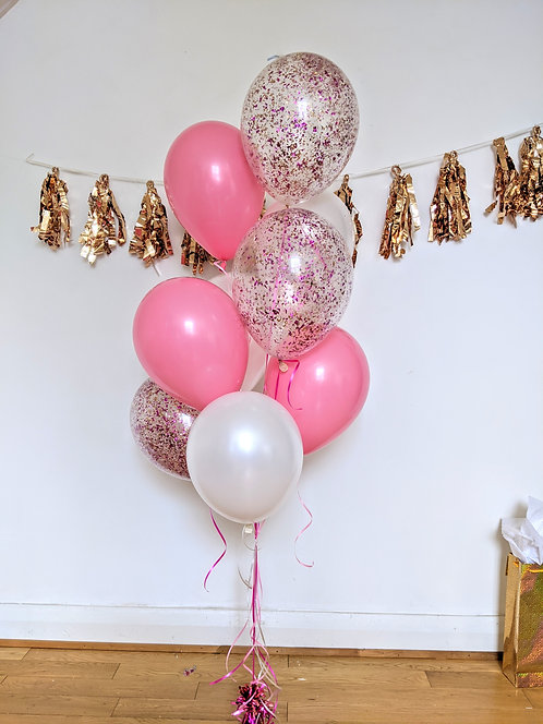 9-Mix of Pink, White & Confetti