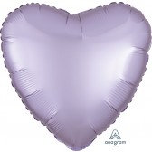 Heart Pastel Lilac Satin