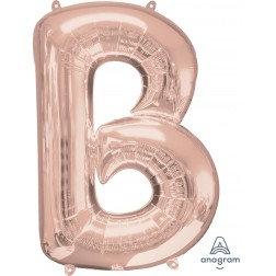 """Super Shape Letter- """" B """" Rose Gold"""