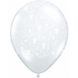 "11"" Latex Balloon - Clear Rose"