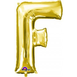 "Super Shape Letter- "" F "" Gold"