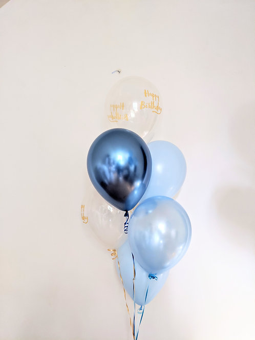 6 Latex Balloons - Ocean
