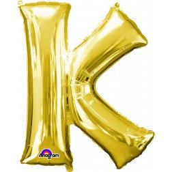 """Super Shape Letter- """" K """" Gold"""