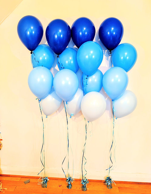 Ombre Balloon Bouquets - Blue