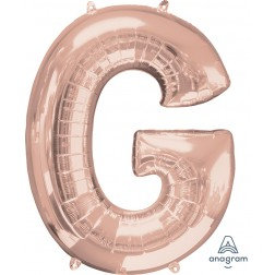 "Super Shape Letter- "" G "" Rose Gold"