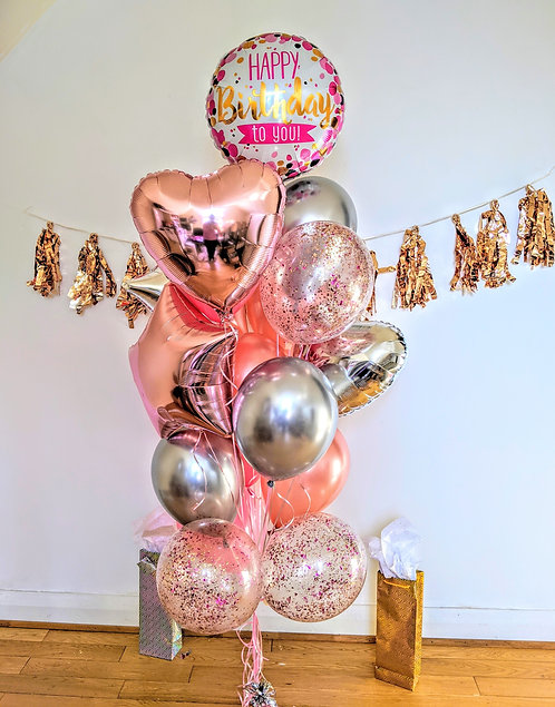 Confetti, Heart & Star Birthday Bouquet