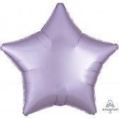 Star Pastel Lilac Satin
