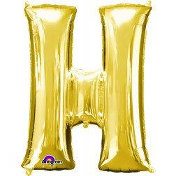 """Super Shape Letter- """" H """" Gold"""