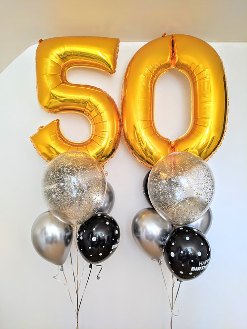 50th Birthday Number Package