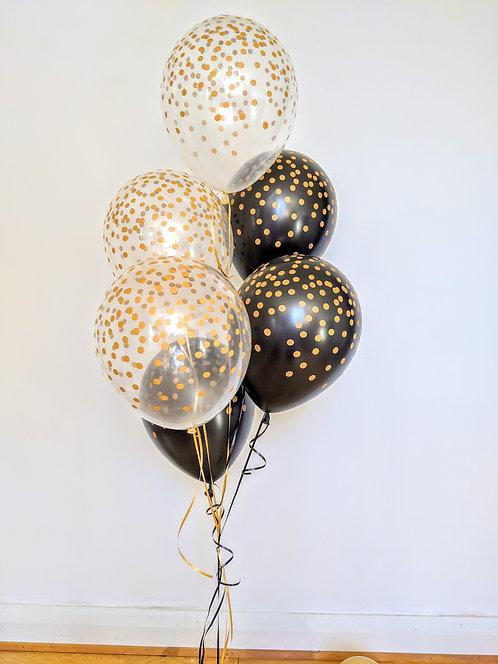 6 Latex Balloons -Classic Confetti