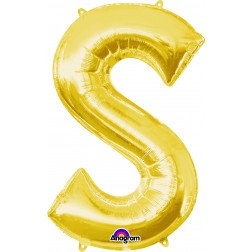 "Super Shape Letter- "" S "" Gold"