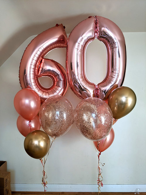60th Birthday Number Package