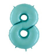 Jumbo Number 8 Pastel Blue Foil Balloon