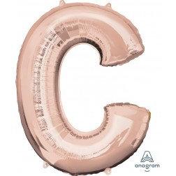 """Super Shape Letter- """" C """" Rose Gold"""