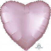 Heart Pastel Pink Satin