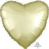 Heart Pastel Yellow Satin