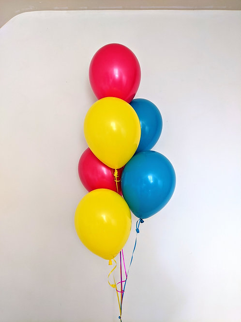 6 Latex Balloons - Tropical