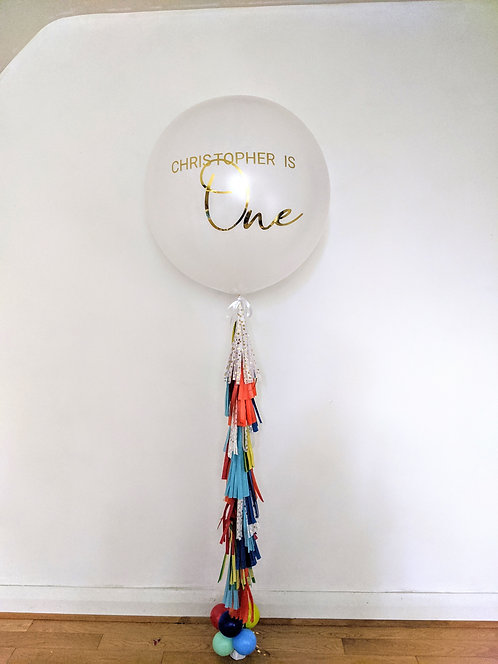 Personalise Jumbo Balloon with Tassel