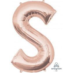 """Super Shape Letter- """" S """" Rose Gold"""