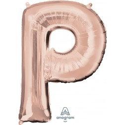 """Super Shape Letter- """" P """" Rose Gold"""