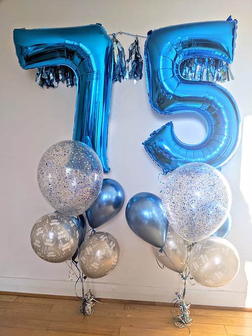75th Birthday Number Package