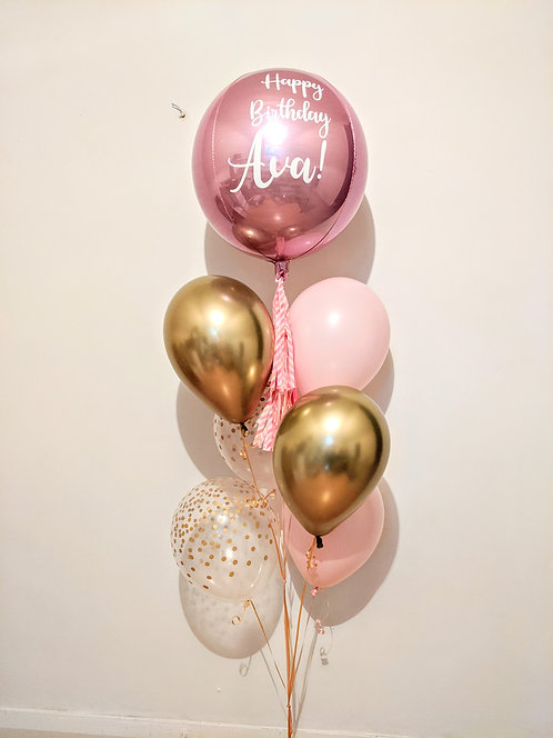 Personalised Orbz Balloon Bouquet